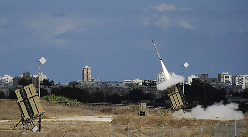 Iron Dome launches for interception near Ashdod. (Photo: AFP) (Photo: AFP)