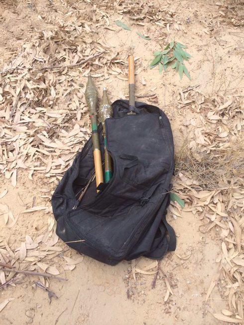 Weapons left behind by the terrorists (Photo: IDF Spokesman)