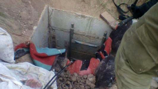 IDF troops at the mouth of a Gaza tunnel (Photo: IDF Spokesman)