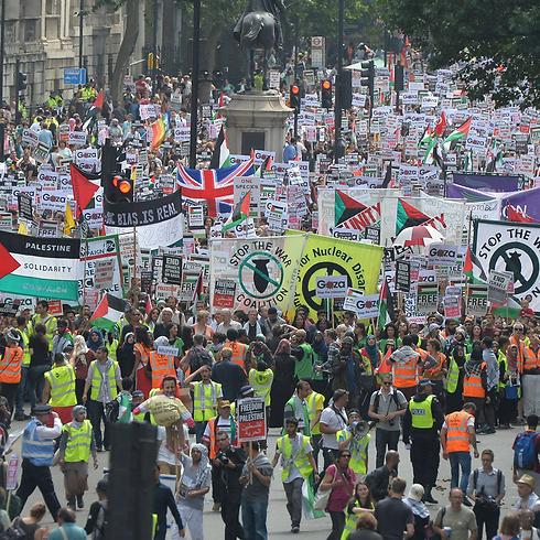 הפגנה פרו-פלסטינית בלונדון (צילום: MCT)