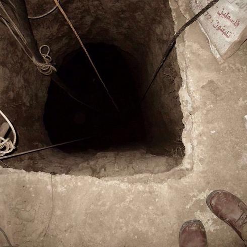 """אחד מפירי המנהרות (צילום: דובר צה""""ל)"""