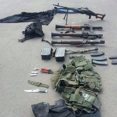 """אמל""""ח שנתפס על ידי כוחות צה""""ל ברצועת עזה (צילום: דובר צה""""ל)"""