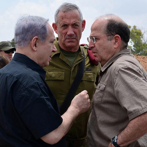 The deciders: Netanyahu, Gantz and Ya'alon during Protective Edge (Photo: GPO) Photo: GPO