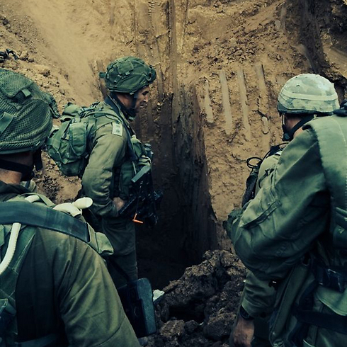 Forces work to unearth tunnel (Photo: IDF)
