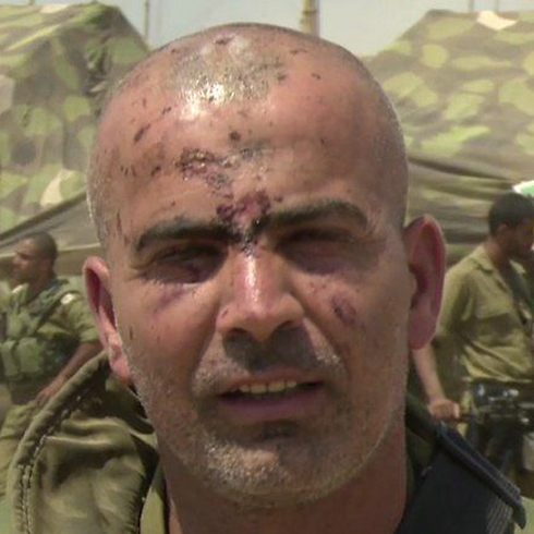 Golani Brigade commander Colonel Ghassan Alian back on the field following his injury (Photo: IDF Spokesman) (Photo: IDF Spokesman)