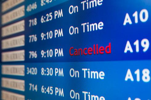 ביטול הטיסות לישראל (צילום: AP)