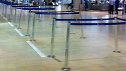 Ben Gurion Airport, empty after flight cancellations to Israel