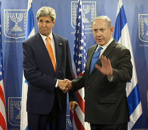 Kerry and Netanyahu, don't see eye to eye on settlements (Photo: Motti Milrod/Archive) (Photo: Motti Milrod)