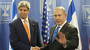 US Secretary of State John Kerry  and Prome Minister Benjamin Netanyahu Photo: Motti Milrod