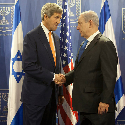 US Secretary of State John Kerry and Prime Minister Benjamin Netanyahu (Photo: Moti Millrod) Photo: Motti Milrod