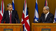 US Foreign Secretary Hammond with Prime Minister Netanyahu Photo: Reuters