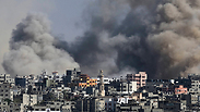 IDF strike in the Gaza Strip Photo: AP