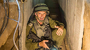 An Israeli army officer gives explanations to journalists during an army organised tour in a tunnel Photo: Associated Press