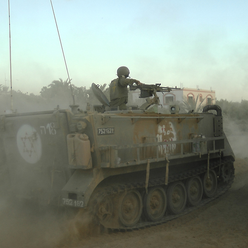 A Medical Corps' APC on patrol among the forces (Photo: Yoav Zitun)
