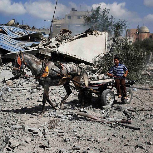 Taking stock of the devastation in Gaza during Saturday's humanitarian ceasefire. (Photo: Reuters) Photo: Reuters