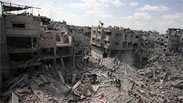 Destruction in the Saja'iyya neighborhood of Gaza City.