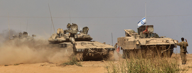 IDF Merkava tanks in Gaza (Photo: AFP)
