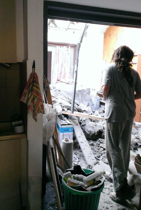 Rocket strike on a house in Eshkol (Photo: Eshkol Regional Council)  (Photo: Eshkol Regional Council)