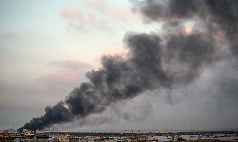 Smoke rises over Gaza (Photo: EPA)