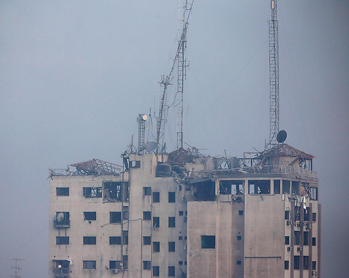 Gaza media building (Photo: AP)