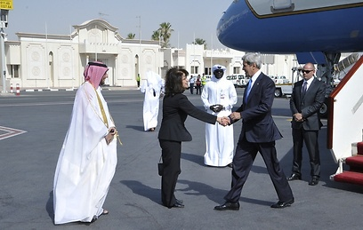 John Kerry being welcomed to Doha in June (Photo: State Department)