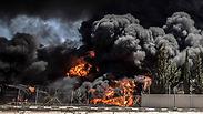 Explosion at Gaza power plant Photo: EPA
