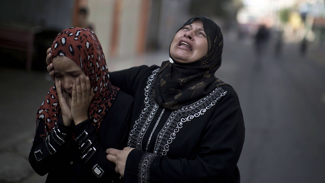 Women in Gaza who lost relatives in Operation Protective Edge (Photo: AFP)