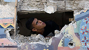 Palestinian child at UNRWA school that was hit by IDF attack Photo: AFP