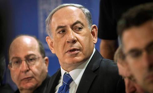 ישראל וחמאס הסכימו להפסקת אש, חמאס המשיך לתקוף. נתניהו ויעלון (צילום: רויטרס)
