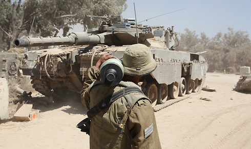 IDF forces in Gaza. 'Soldiers working to prevent another destruction must be strong in body and spirit' (Photo: Motti Kimchi)