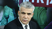 Yair Lapid in Ynet sudios. Photo: Ofer Amram