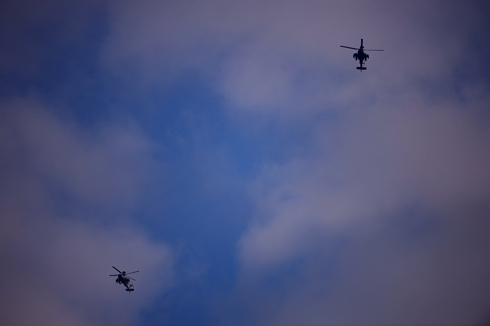 IAF hover over Gaza amid collapse of ceasefire (Photo: Avi Rokach)