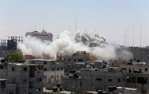 Smoke over Rafah, Gaza (Photo: Reuters) Photo: Reuters
