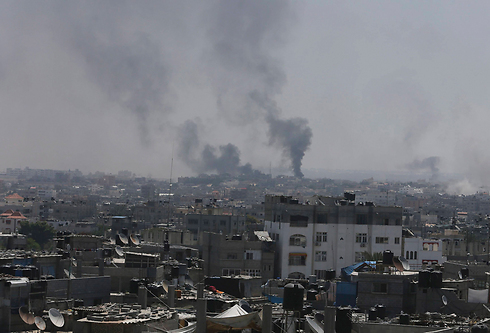 Soot clouds over Rafah (Reuters)