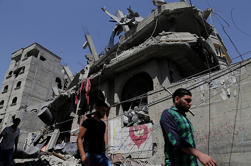 Destroyed homes in Gaza Strip (Photo: AP) Photo: AP