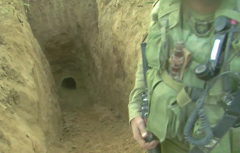 A tunnel in Gaza. Netanyahu and Ya'alon failed to confirm that the IDF was properly prepared to deal with the problem (Photo: IDF Spokesperson's Unit)
