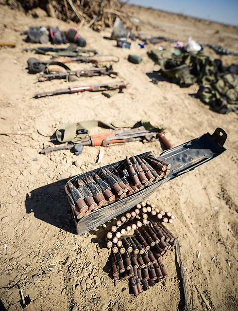 Weapons cache discovered in a tunnel in Gaza (Photo: IDF Spokespersons Unit)