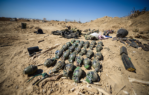 Explosives found in Hamas tunnel in northern Gaza Strip. (Photo: IDF Spokesman's  Unit)