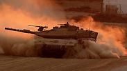 Forces near Gaza Photo: AFP