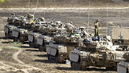 IDF tanks leaving the Gaza Strip. Photo: AFP