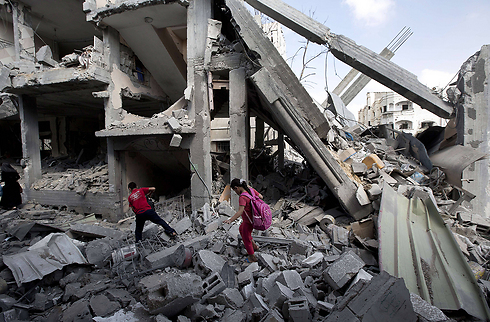 Begin the rebuilding process in Gaza. Damage in northern Gaza. (Photo: AFP) Photo: AFP