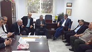 The Palestinian delegation to ceasefire negotiation in Cairo
