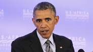 "US President Barack Obama, Wednesday. Expressed his distress ""at what's happened to civilians"". Photo: AFP"