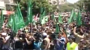 Hamas-organized rally in Gaza