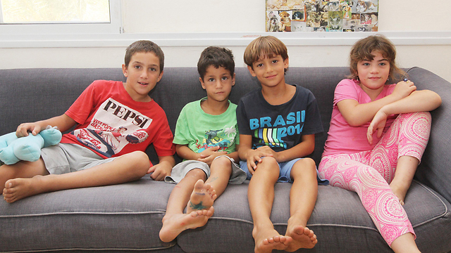 The kids of Beit Dror in Re'im (Photo: Ido Erez)