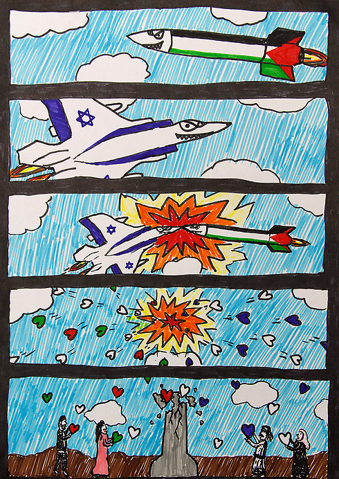 Eeleven-year-old Ohad from Sderot's drawing (Photo: HaMabul collective)