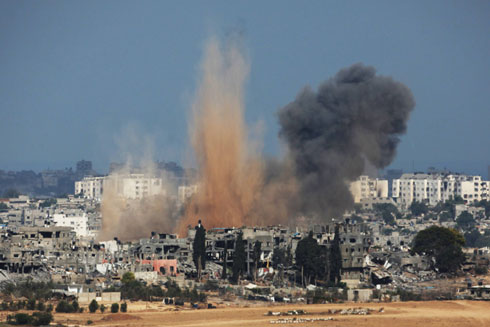 IDF strike on Gaza (Photo: AFP) (Photo: AFP)