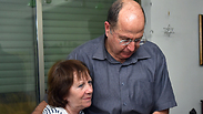 Ya'alon embracing Oron Shaul's mother Photo: Ariel Hermoni, Defense Ministry