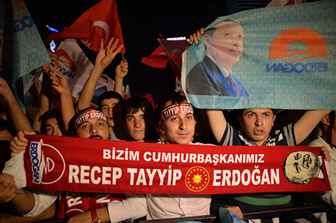 Erdogan supporters celebrate (Photo: MCT)