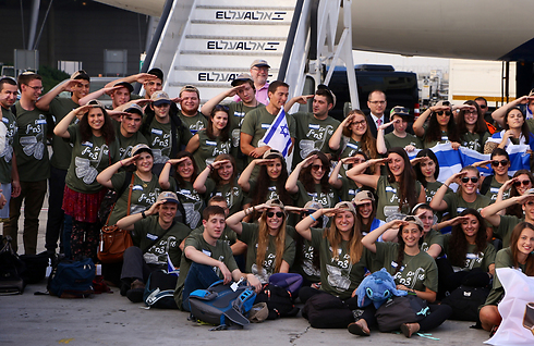 The new immigrants at Ben Gurion International Airport (Photo: Motti Kimchi)
